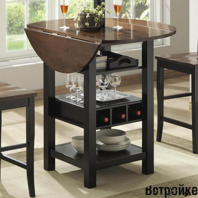 Раскладной стол тумба для маленькой кухни