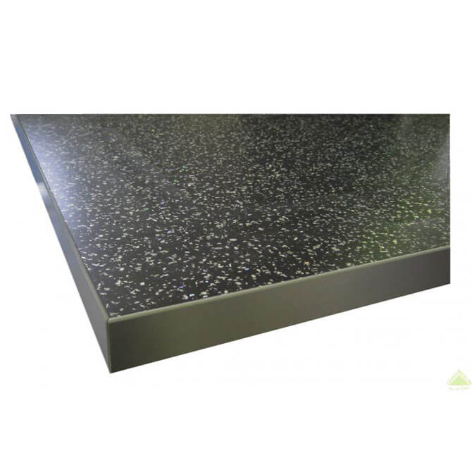 Столешница ДСП/пластик, черная искра