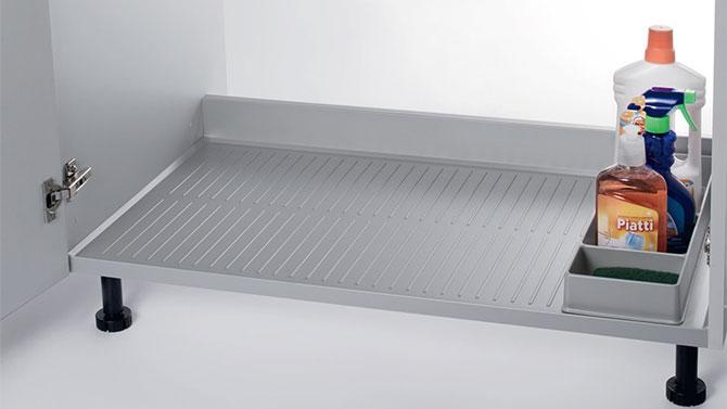 Поддон алюминиевый L=600/800/900 для мойки