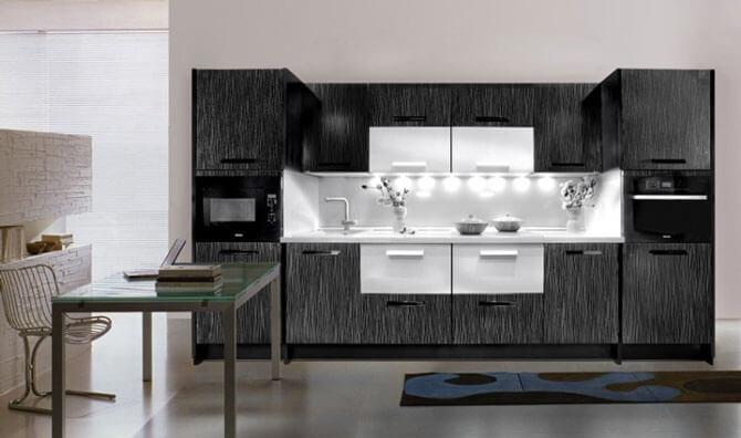 дизайн кухни в стиле техно