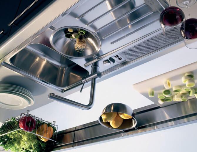 Глянцевые металлические мойки для кухни