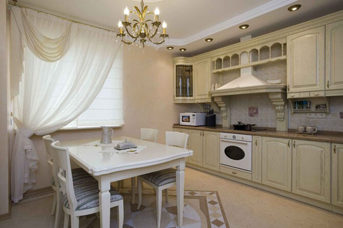дизайн кухни в классическом стиле