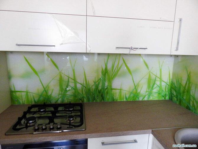 кухонный фартук трава, зелень
