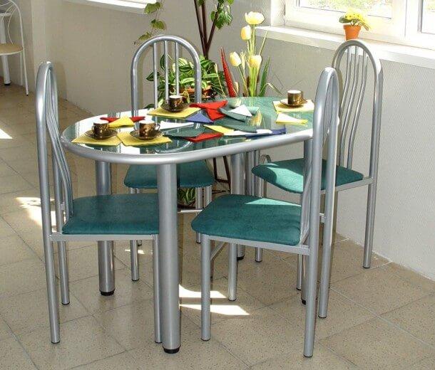 Металлические стулья для маленькой кухни