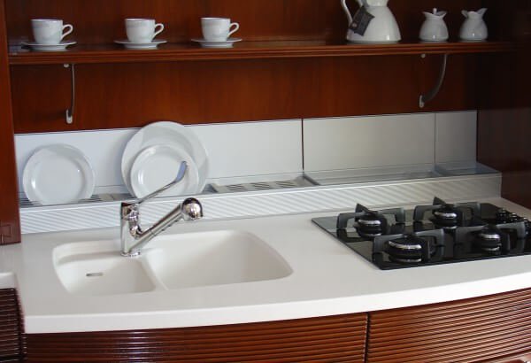 waschbecken stein f r k che. Black Bedroom Furniture Sets. Home Design Ideas