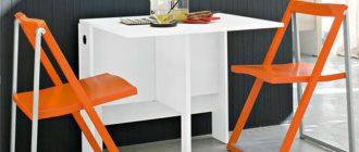 Пластиковые складные стулья для кухни