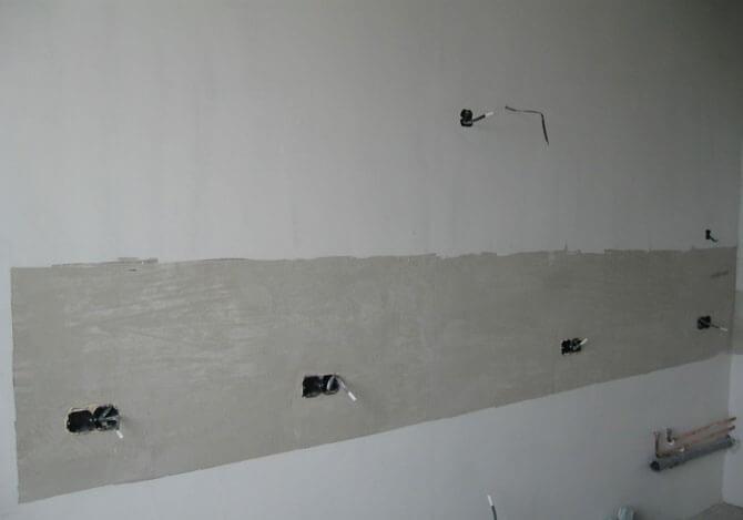 подготовка стен для укладки плитки на фартук