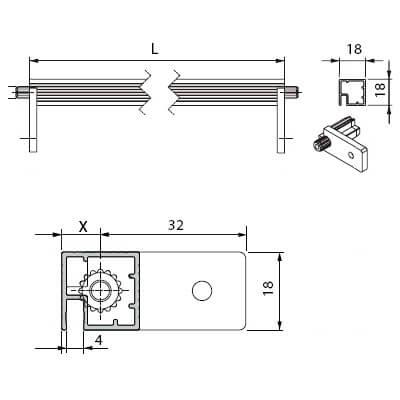 Профиль для соединения боковых стенок шкафа