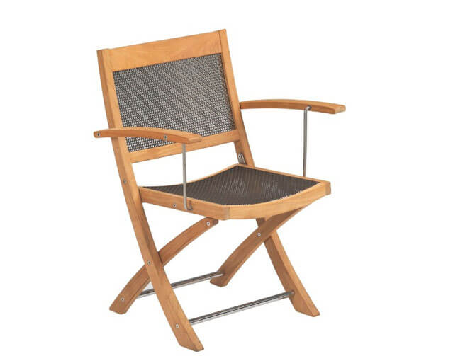 Деревянный складной стул со спинкой