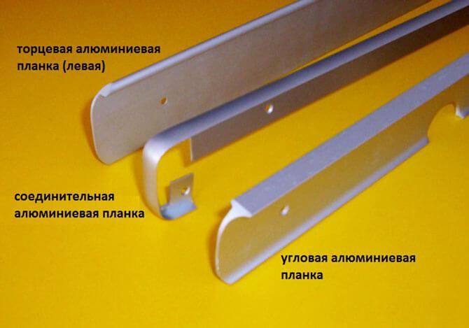 Алюминиевые соединительные планки для столешницы