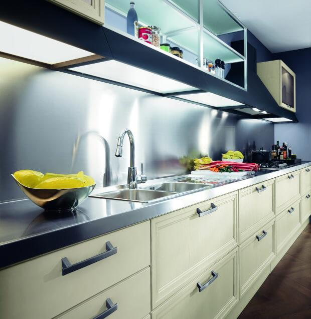 Столешница для кухни стальная
