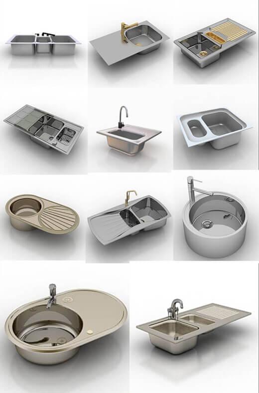 виды моек для кухни фото
