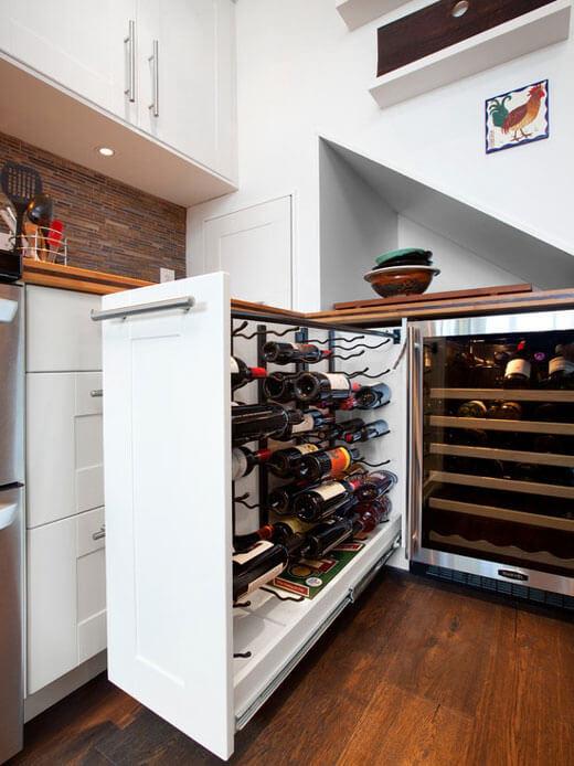 Большая бутылочница для кухни