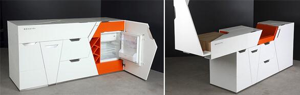 Компактный стол трансформер для кухни