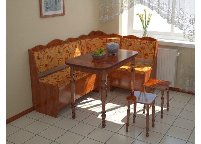 Угловой мини-диван на кухню