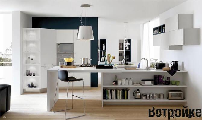 Освещение кухни студии