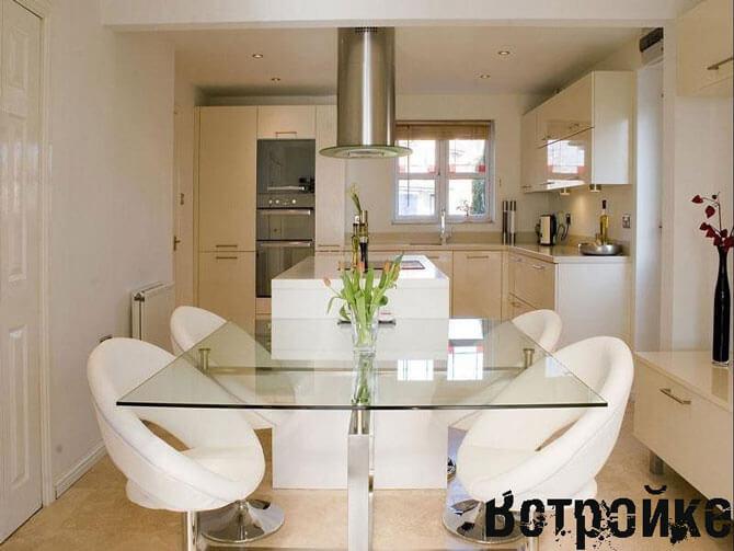 Мебель на кухне 15 кв м