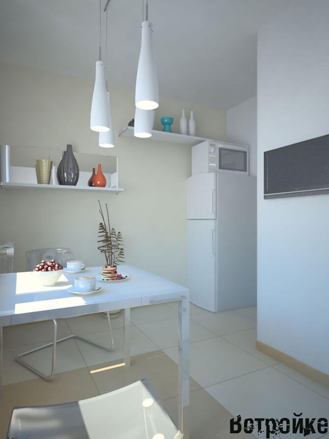 Интерьер кухни 7 кв м
