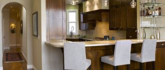 Дизайн кухни с барной стойкой