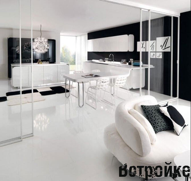 Мини диван на кухне