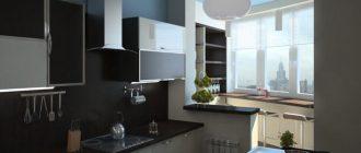 дизайн кухни совмещенной с лоджией