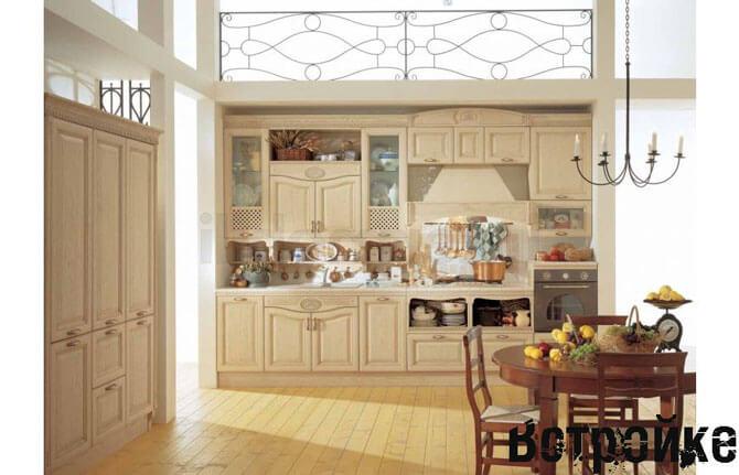 Кухня в деревенском стиле из натуральных материалов
