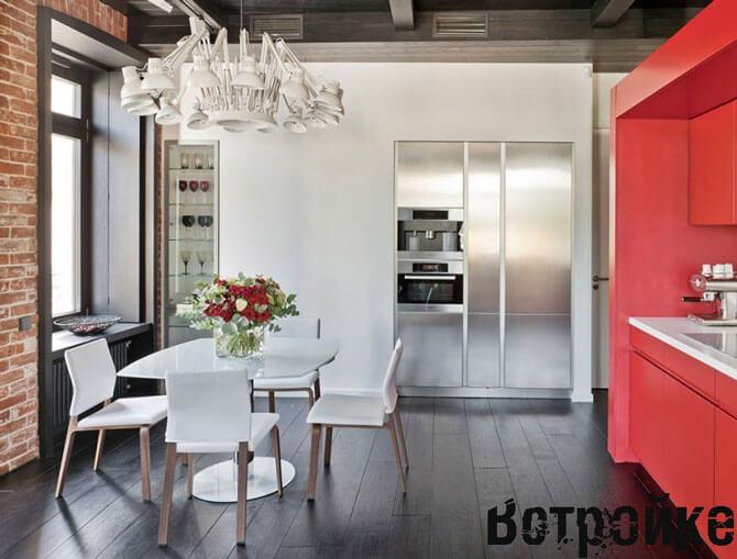 Кухня гостиная в стиле лофт