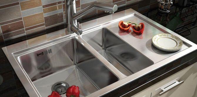 Двойная мойка для кухни фото