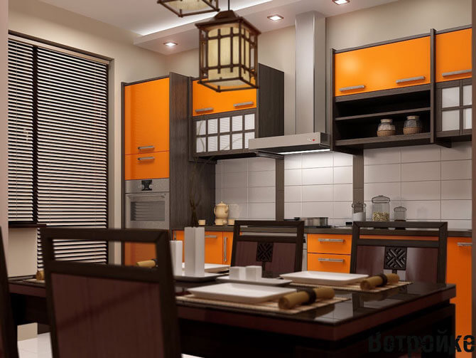 Кухонная мебель в японском стиле