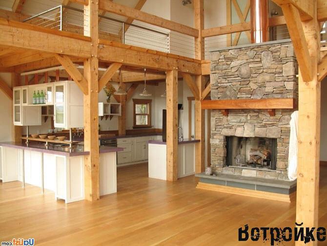 Пол на кухне в деревянном доме