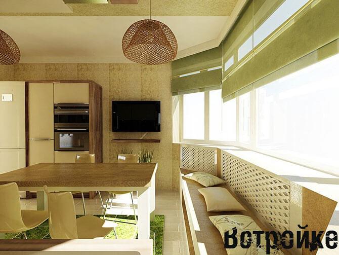 Расстановка мебели на кухне п 44т