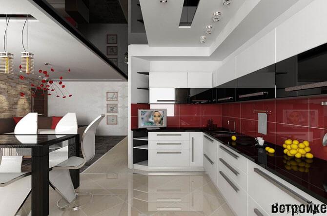 Дизайн кухни столовой