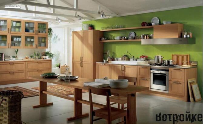 Кухня гостиная в загородном доме