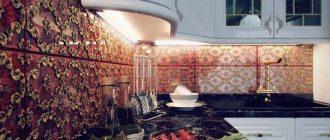 плитка фартук на кухню дизайн