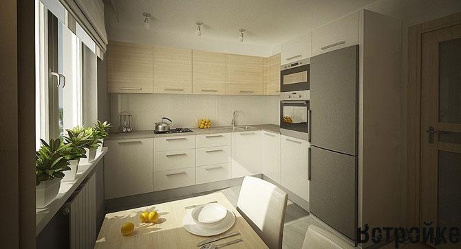 Кухня 12 кв м в стиле минимализм