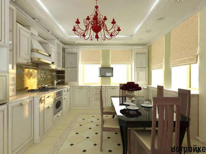 Декор кухни в классическом стиле