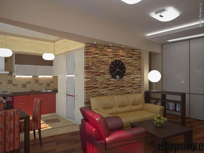 Дизайн кухни гостиной 16 метров
