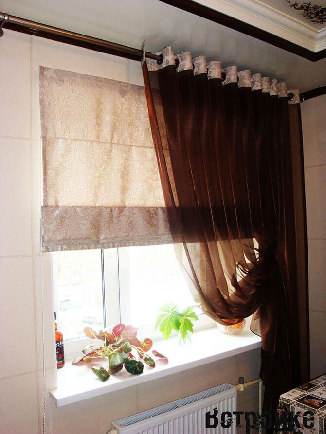Кухонные шторы и тюль на люверсах