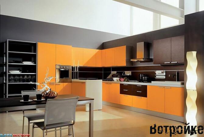 Цветная угловая кухня