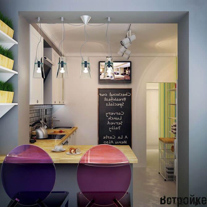 Цветные стулья для кухни