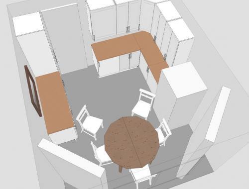 Схема кухонного помещения