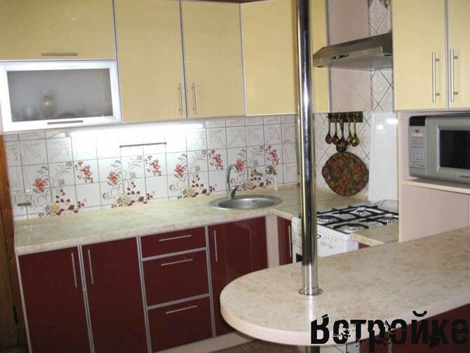 Вариант дизайна кухни 3 на 4 метра