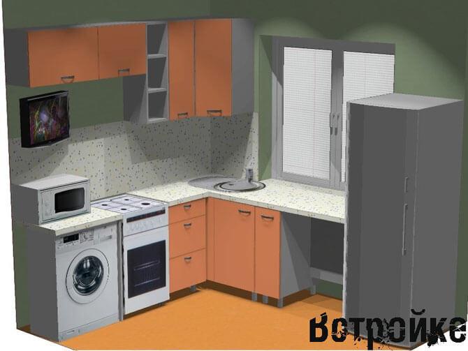 мебель для малогабаритной кухни хрущевки