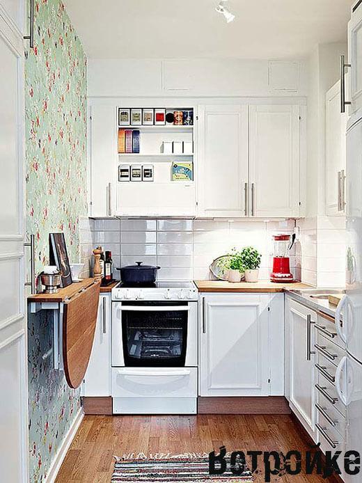 Эффективное использование пространства на маленькой кухне