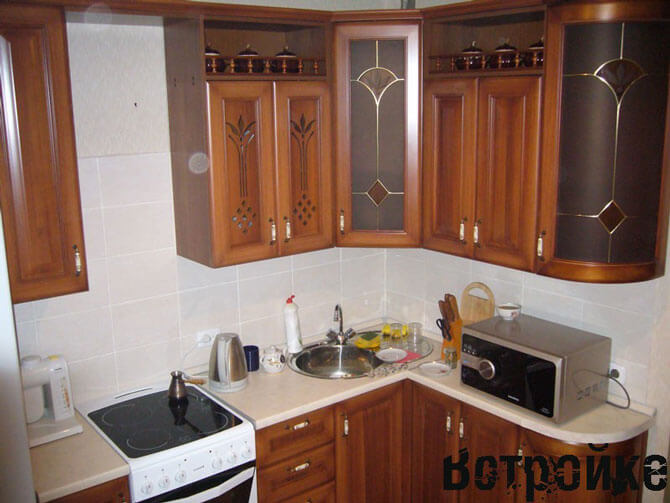 маленькие кухни расстановка мебели