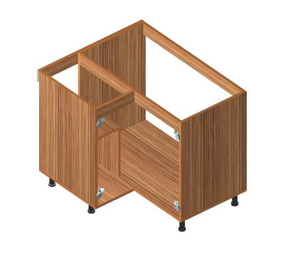 Кухонный нижний угловой модуль 860 х 940 х 860