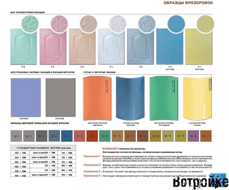 Цветовая гамма МДФ фасадов