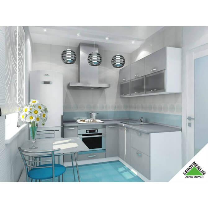 Кухня: фасад алюминиевый профиль серия стандарт
