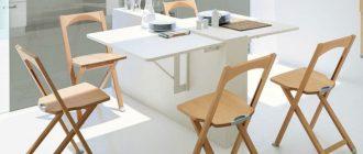 откидной стол на кухню фото