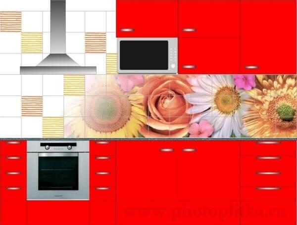 Фотоплитка для кухни на фартук